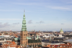 Vistas desde la torre del Palacio de Christiansborg.